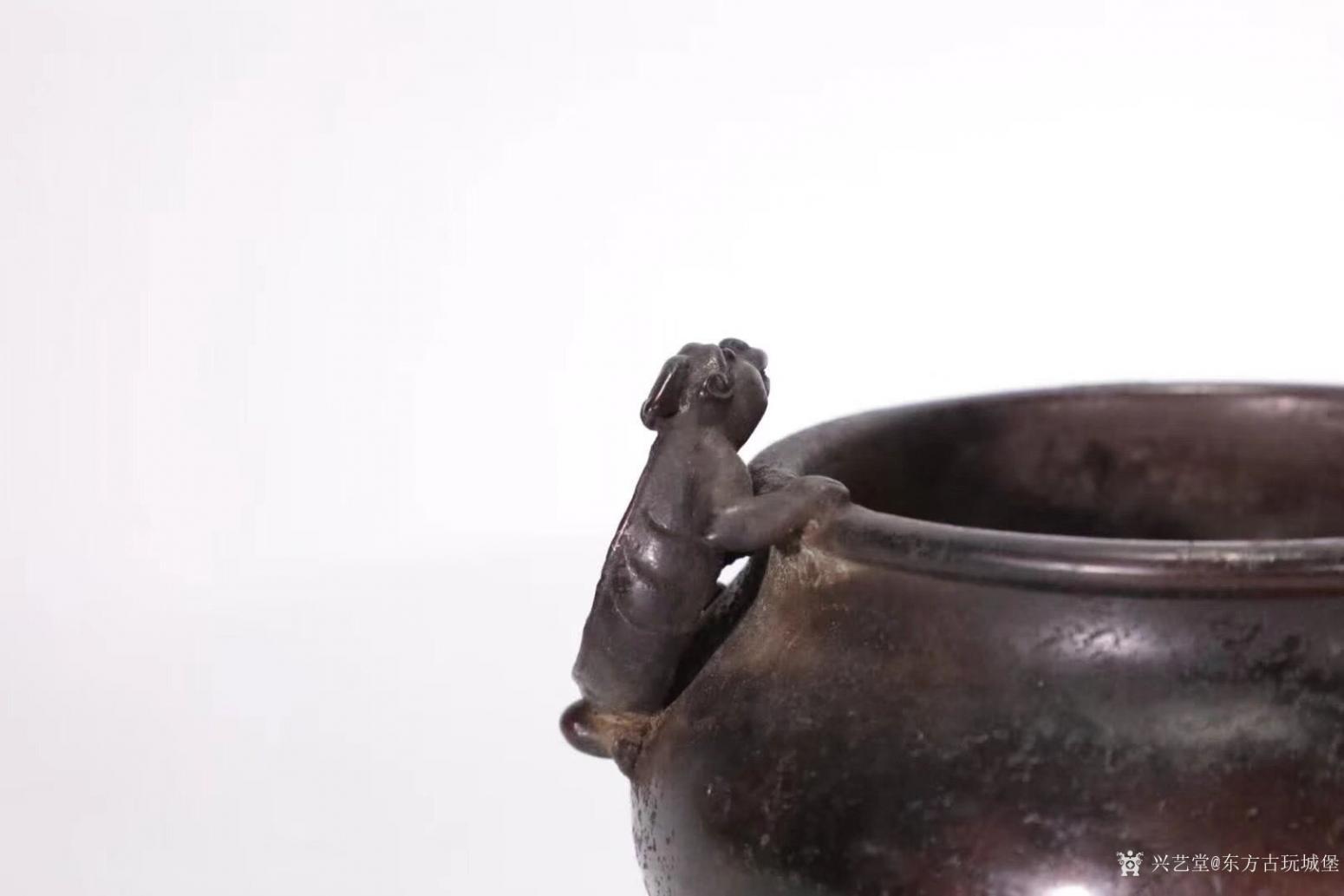 东方古玩城堡文玩杂项作品《双螭龙耳铜炉》【图3】