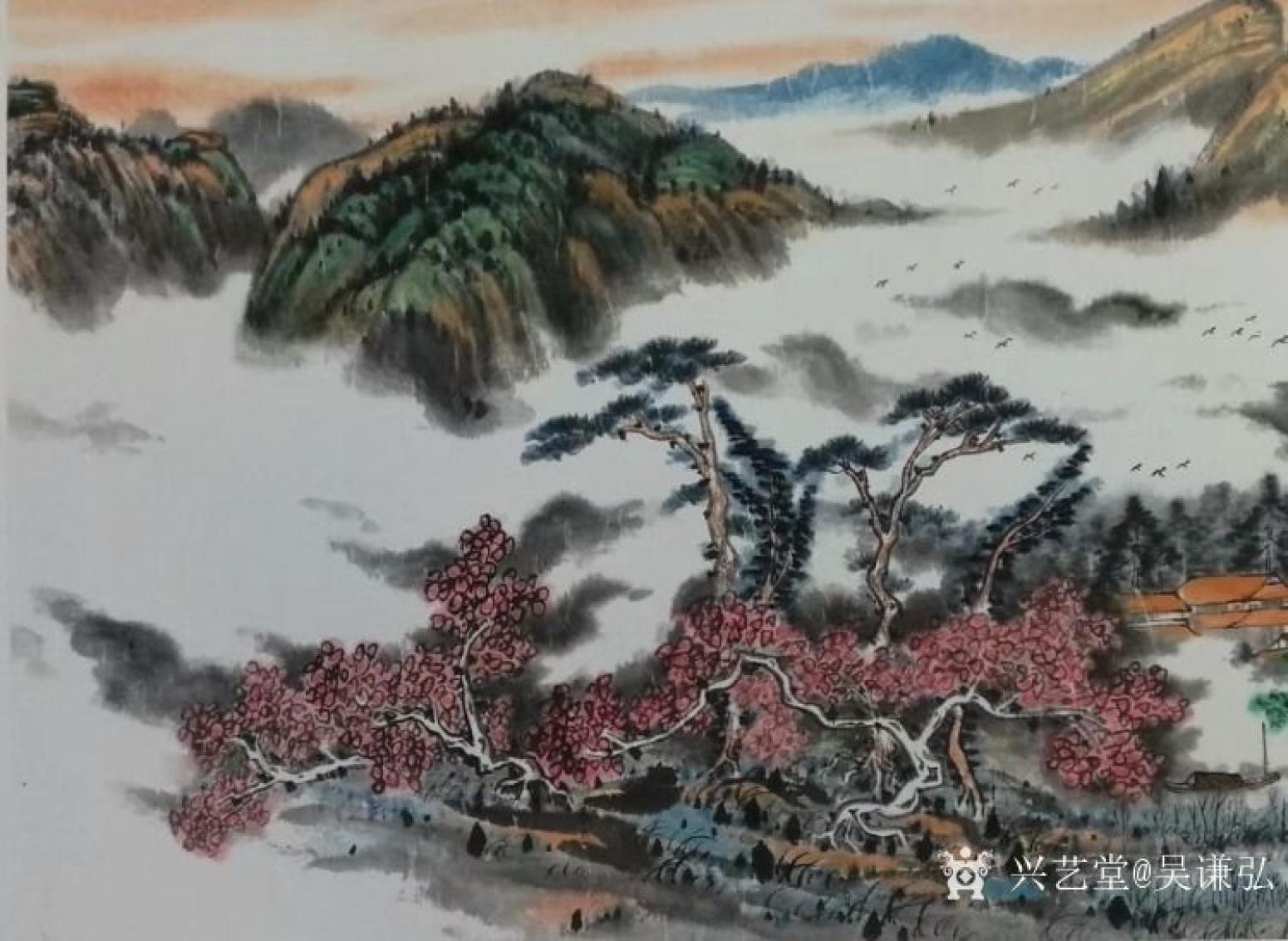 吴谦弘国画作品《锦绣江山》【图1】