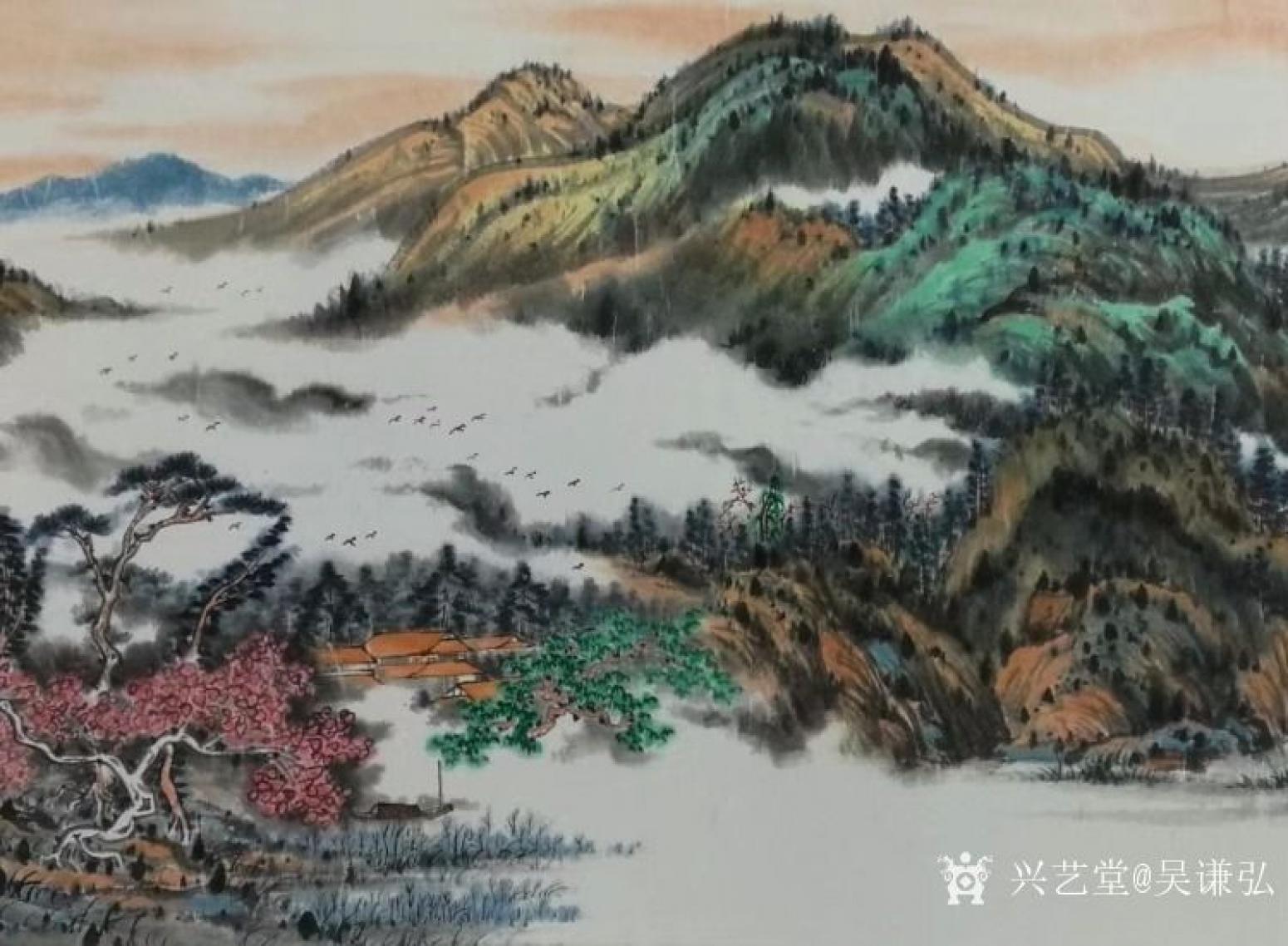吴谦弘国画作品《锦绣江山》【图3】