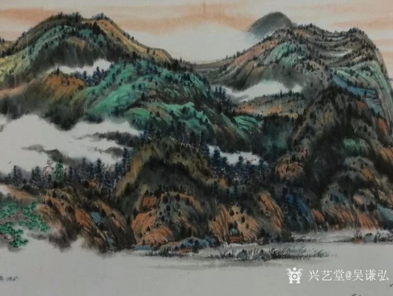 吴谦弘国画作品《锦绣江山》【图4】