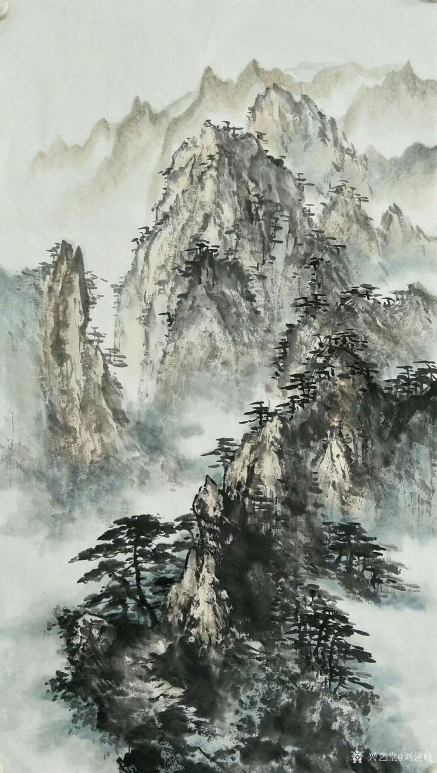 刘建岭国画作品《松风流秀》【图0】
