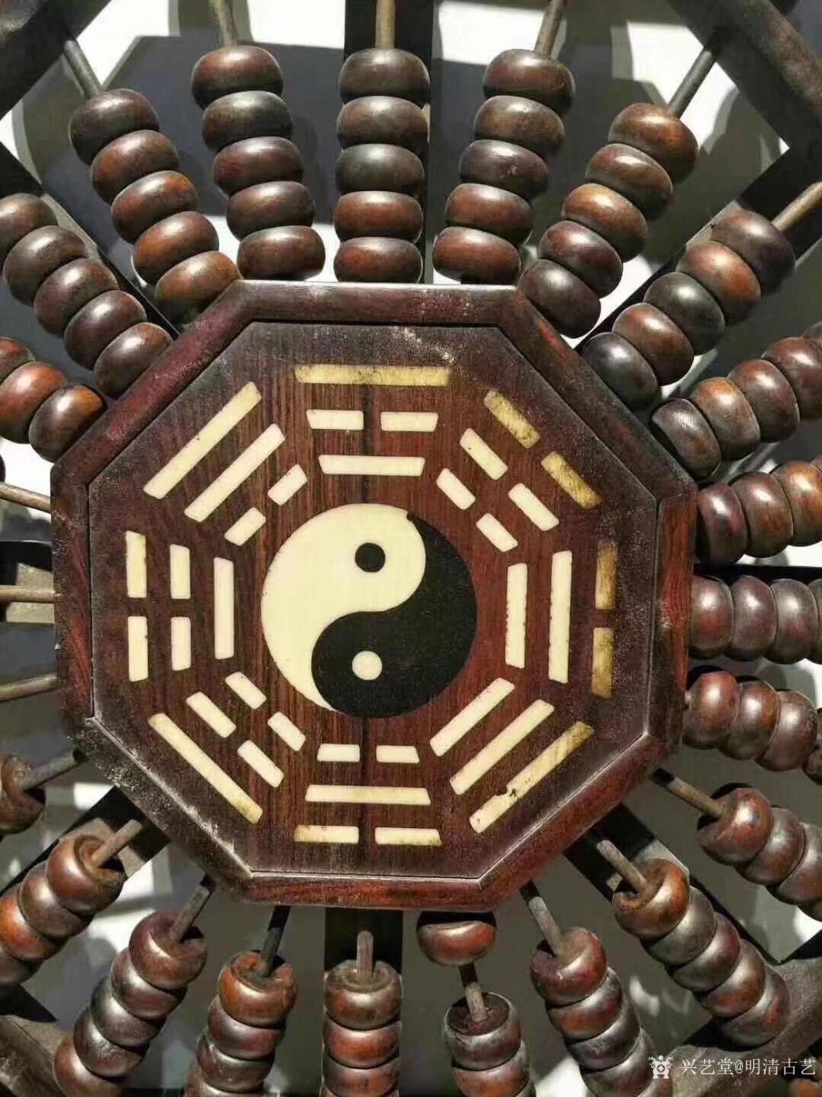 明清古艺文玩杂项作品《民国红木八卦算盘》【图1】