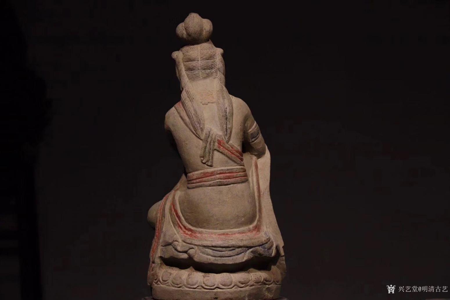 明清古艺雕刻作品《收藏品:观音石像》【图1】
