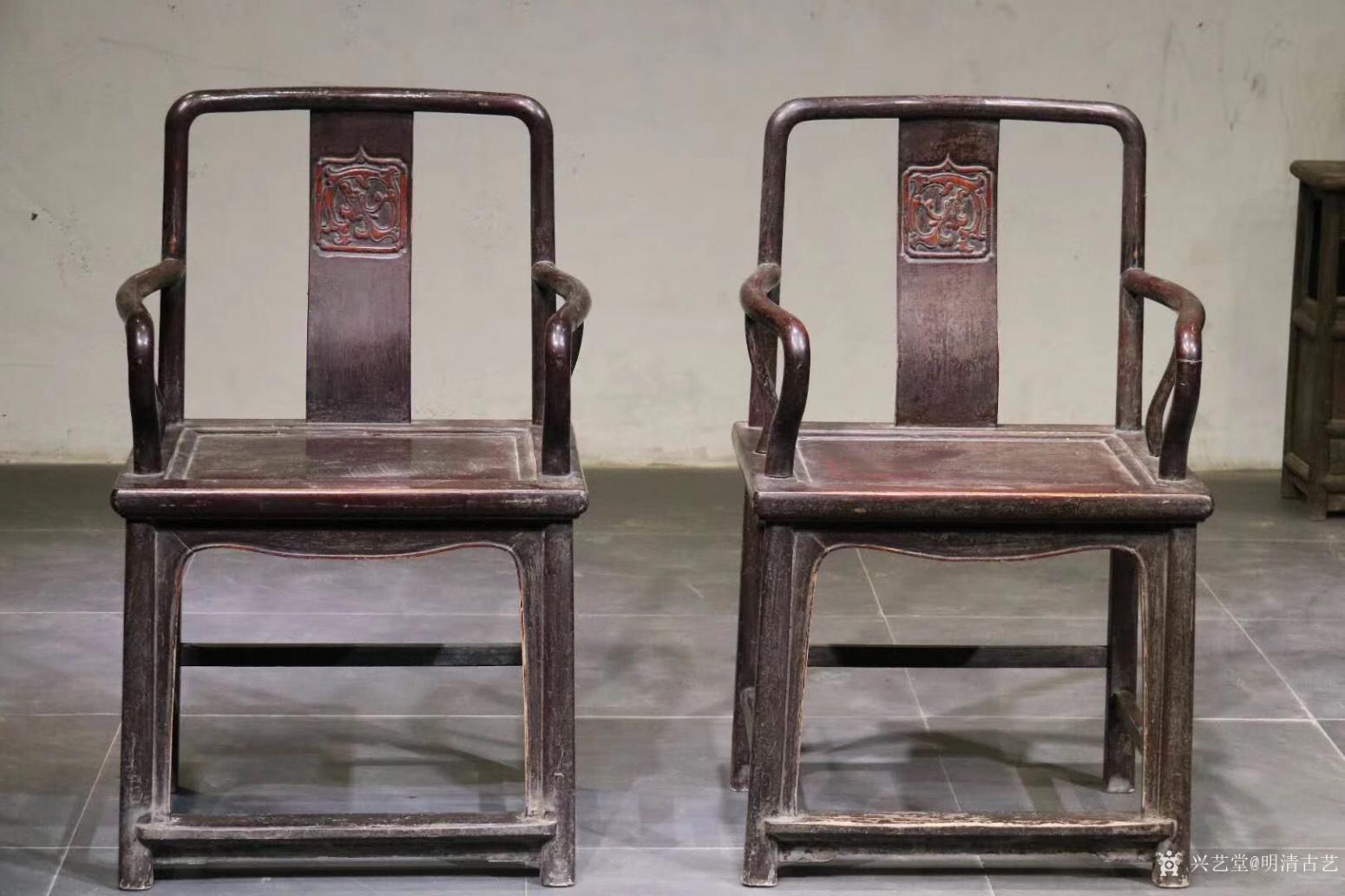 明清古艺文玩杂项作品《收藏品:明式楠木椅》