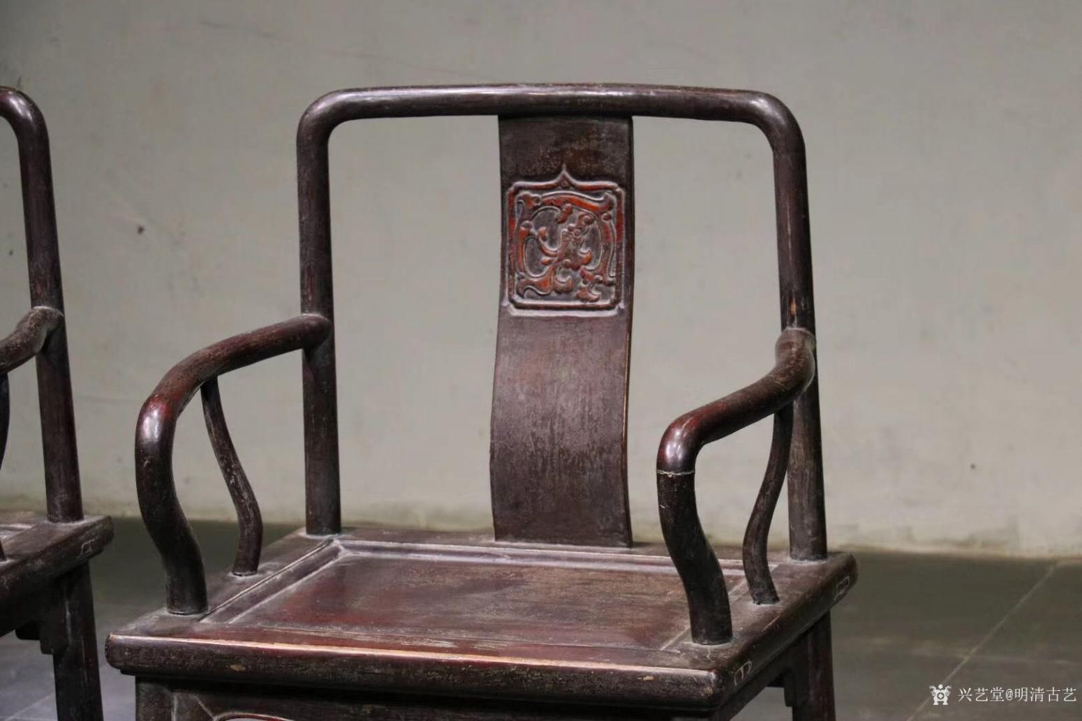 明清古艺文玩杂项作品《收藏品:明式楠木椅》【图1】