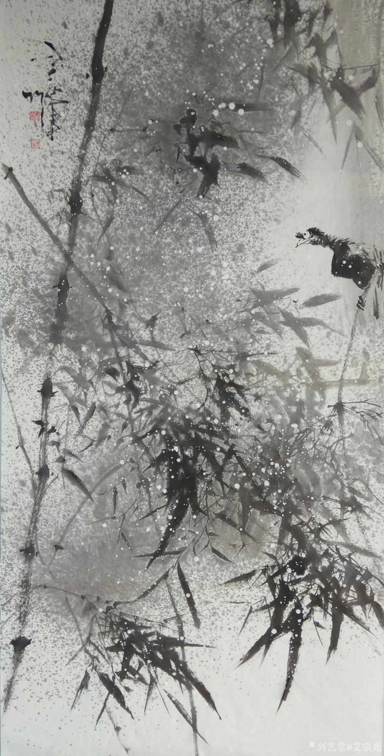 艾宗光国画作品《【竹子4】作者艾宗光》
