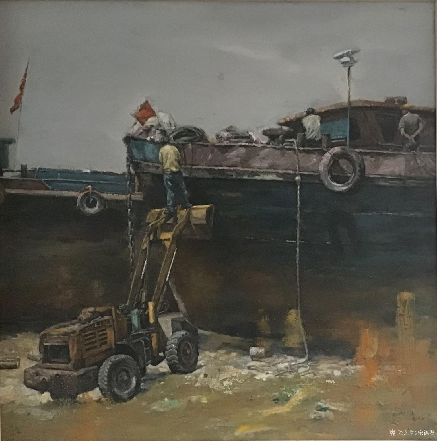 宋德发油画作品《船之舞曲系列》