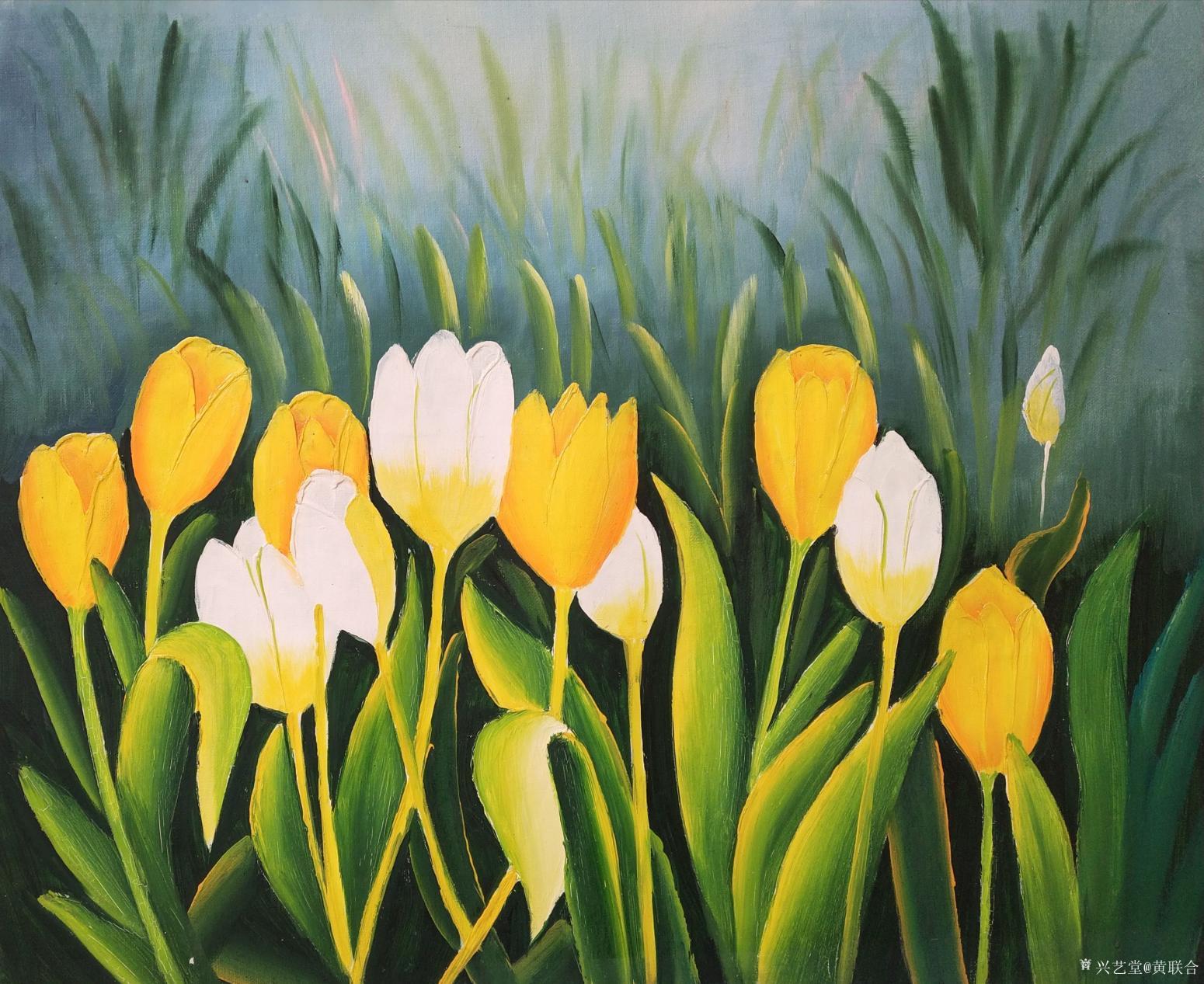 黄联合油画作品《风景油画》