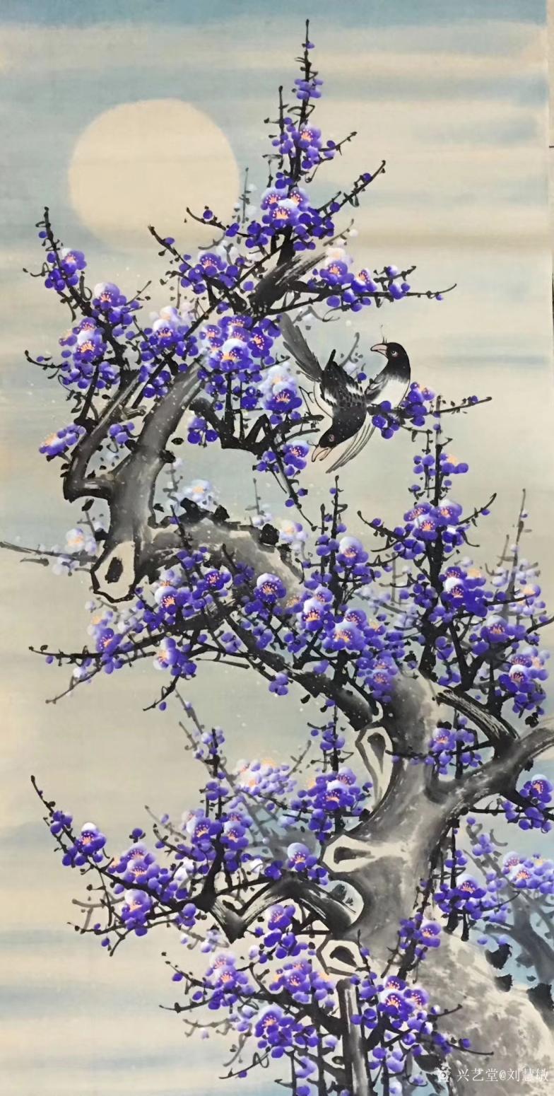 刘慧敏国画作品《紫气东来》【图0】