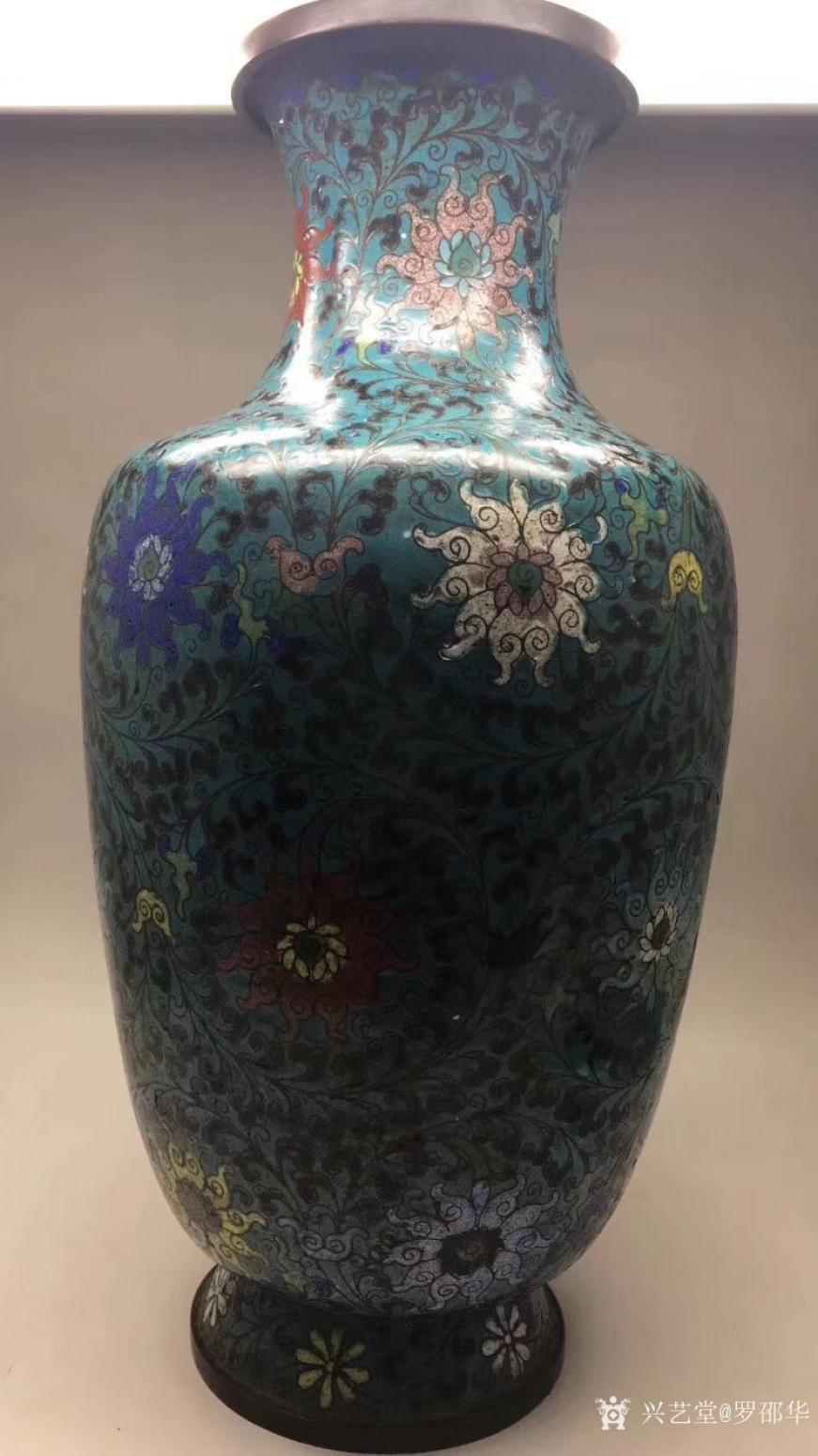 罗邵华文玩杂项作品《珐琅缠枝莲纹花瓶》