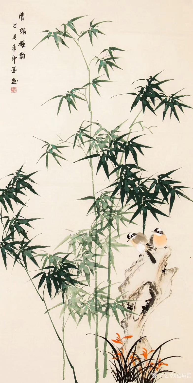嵇境雷国画作品《竹-清风雅韵-许墨》【图0】