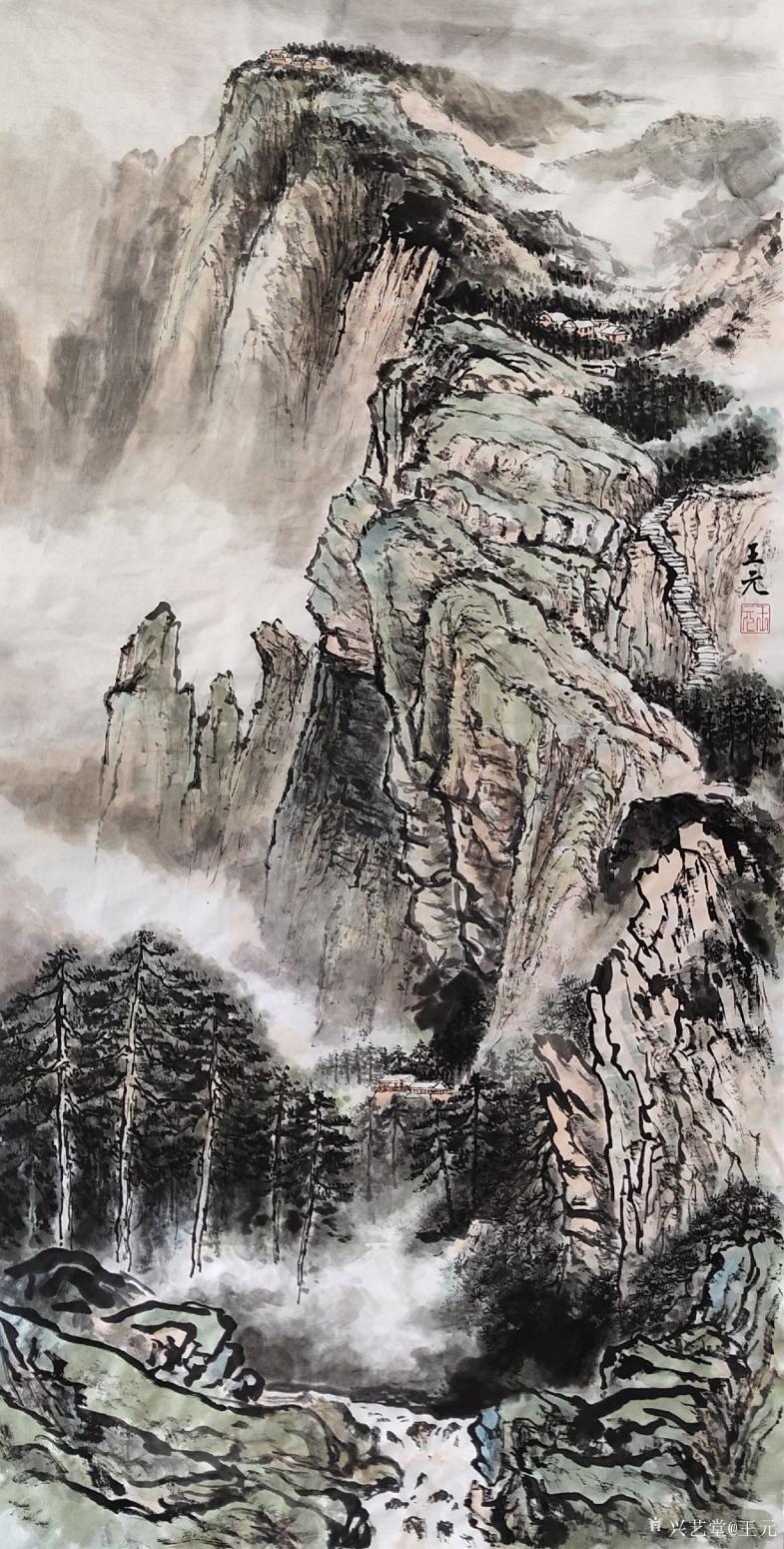 王元国画作品《峨眉山》
