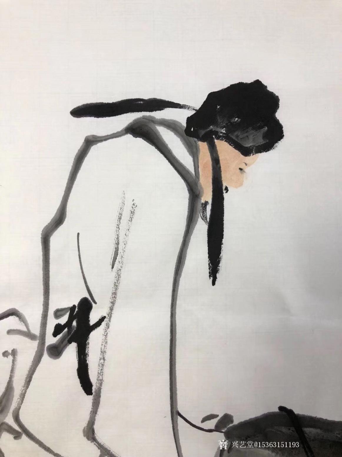 15363151193国画作品《李太白醉酒图》【图6】
