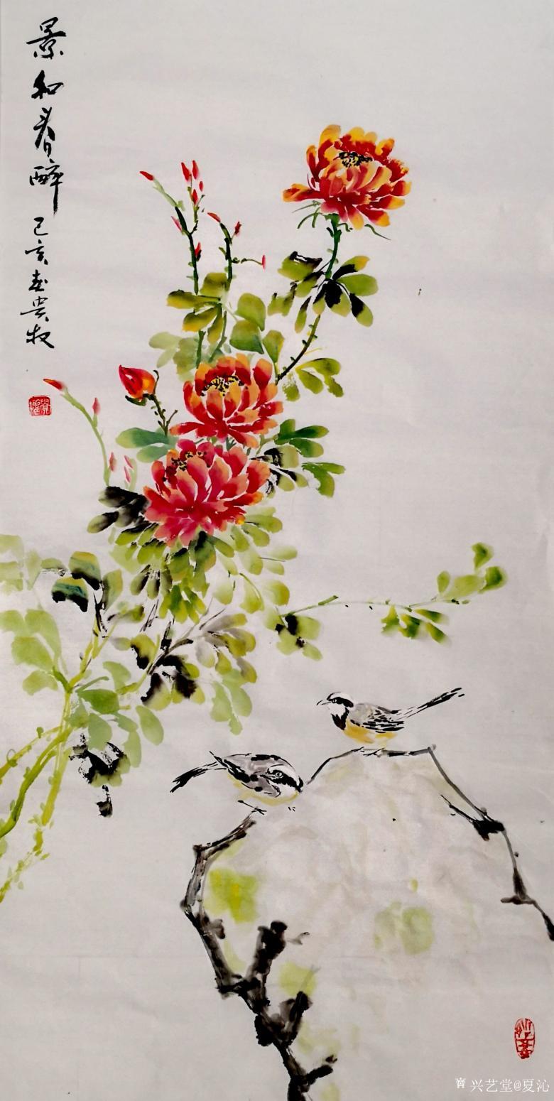 夏沁国画作品《景和春醉》