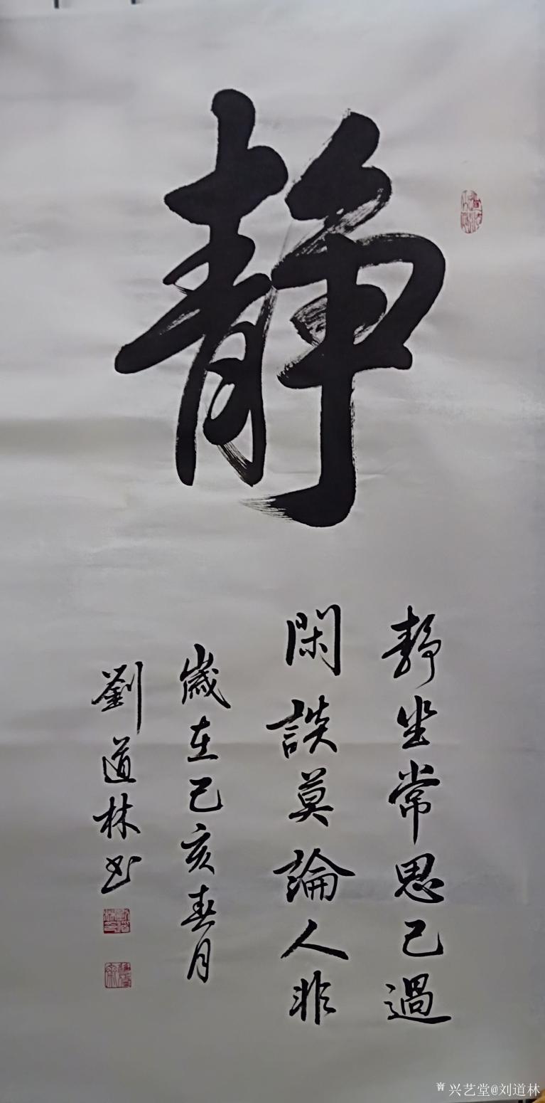 刘道林书法作品《静》