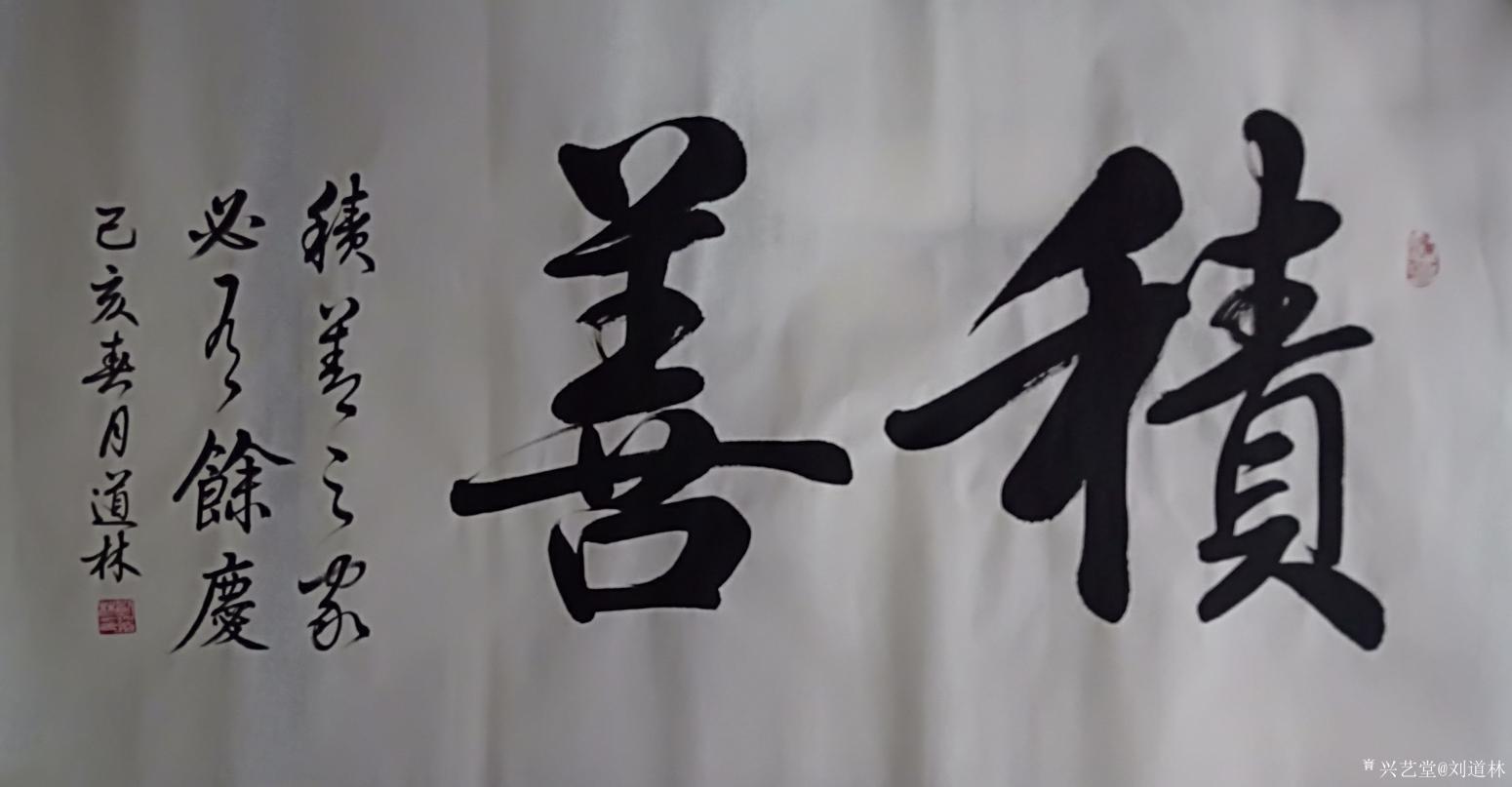 刘道林书法作品《积善》