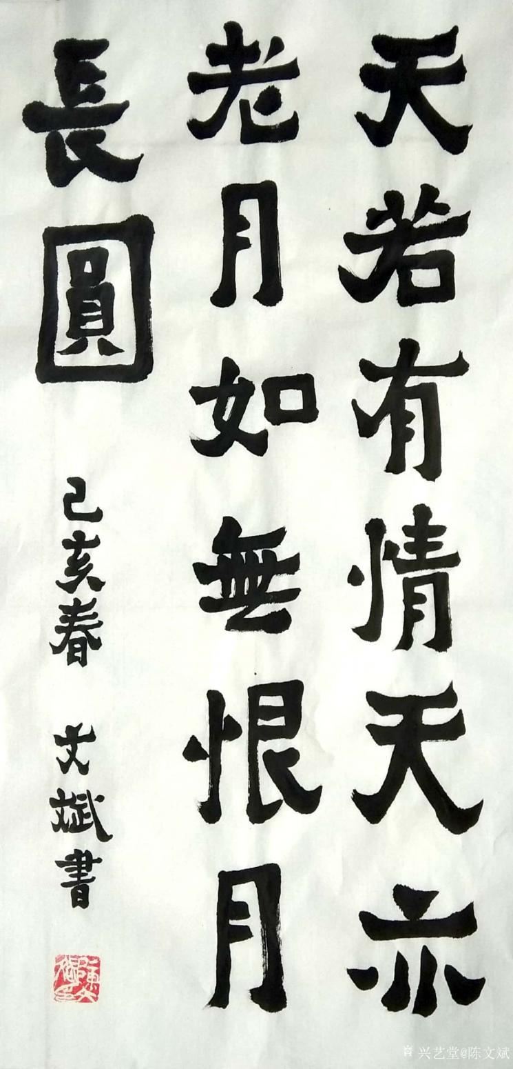 陈文斌书法作品《天若有情天亦老》
