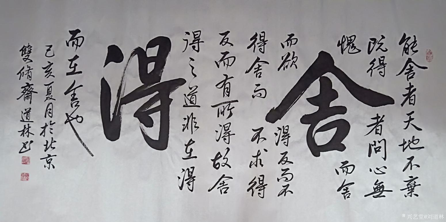 刘道林书法作品《舍得》