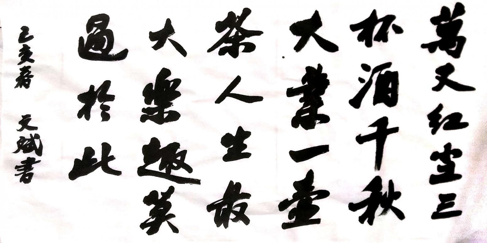 陈文斌书法作品《人生禅语》