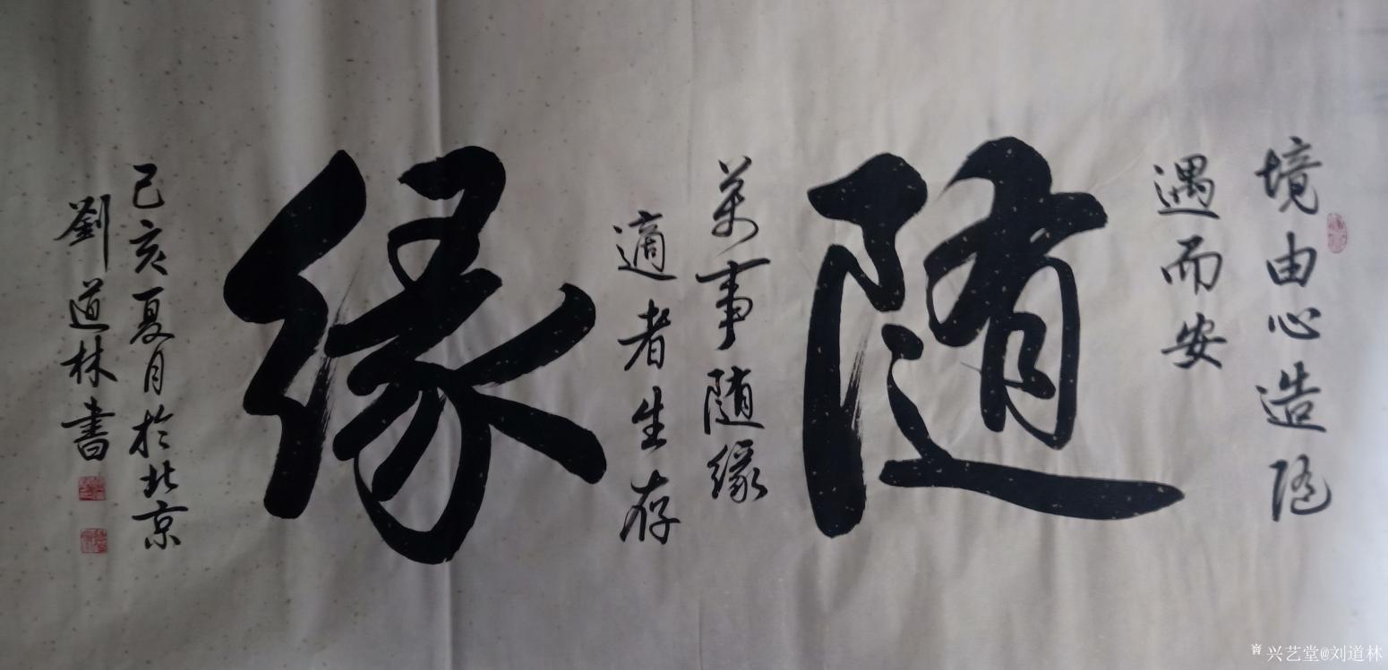 刘道林书法作品《随缘》