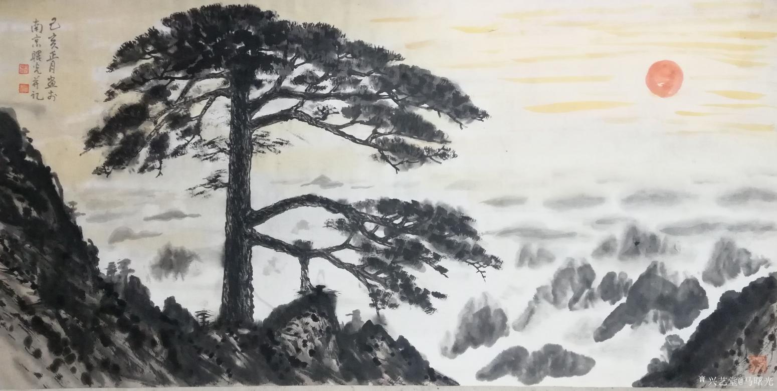 马曙光国画作品《喜迎八方客》【图0】