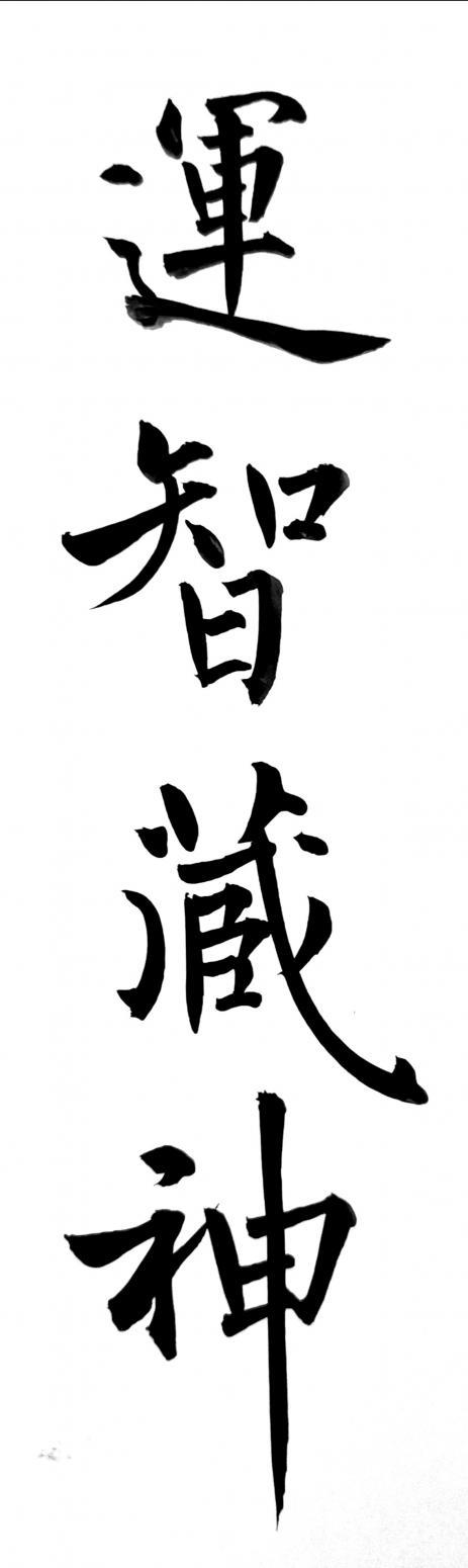 王立平书法作品《运智藏神》