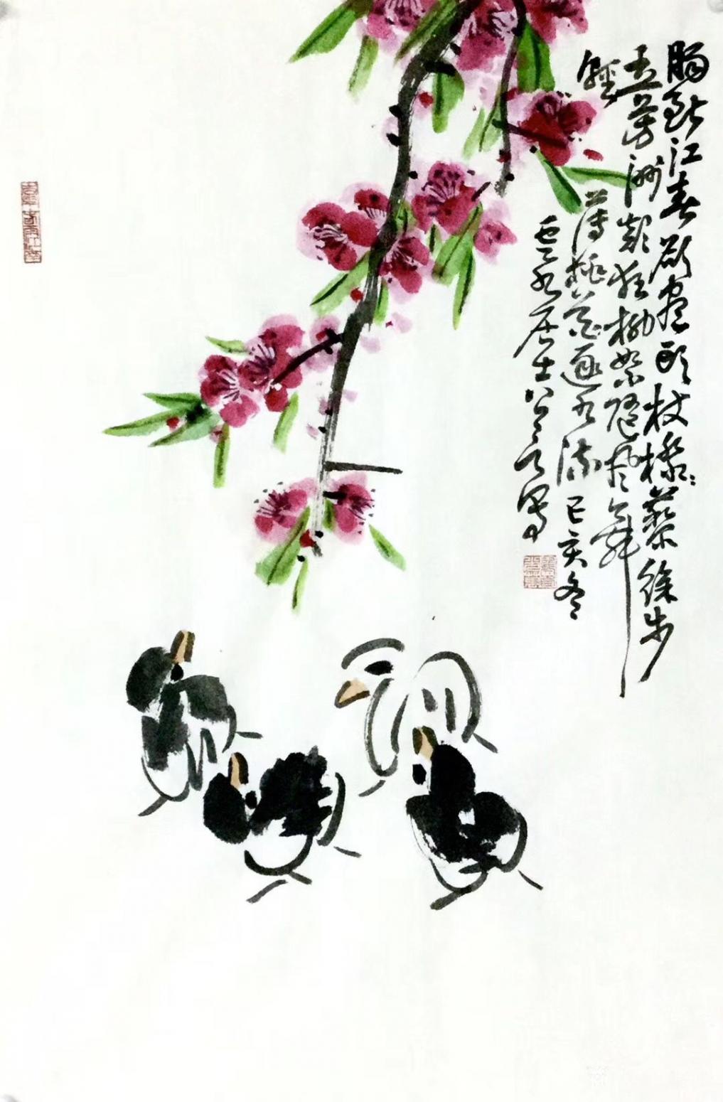 龚光万国画作品《花鸟-肠断江春欲尽头》【图0】