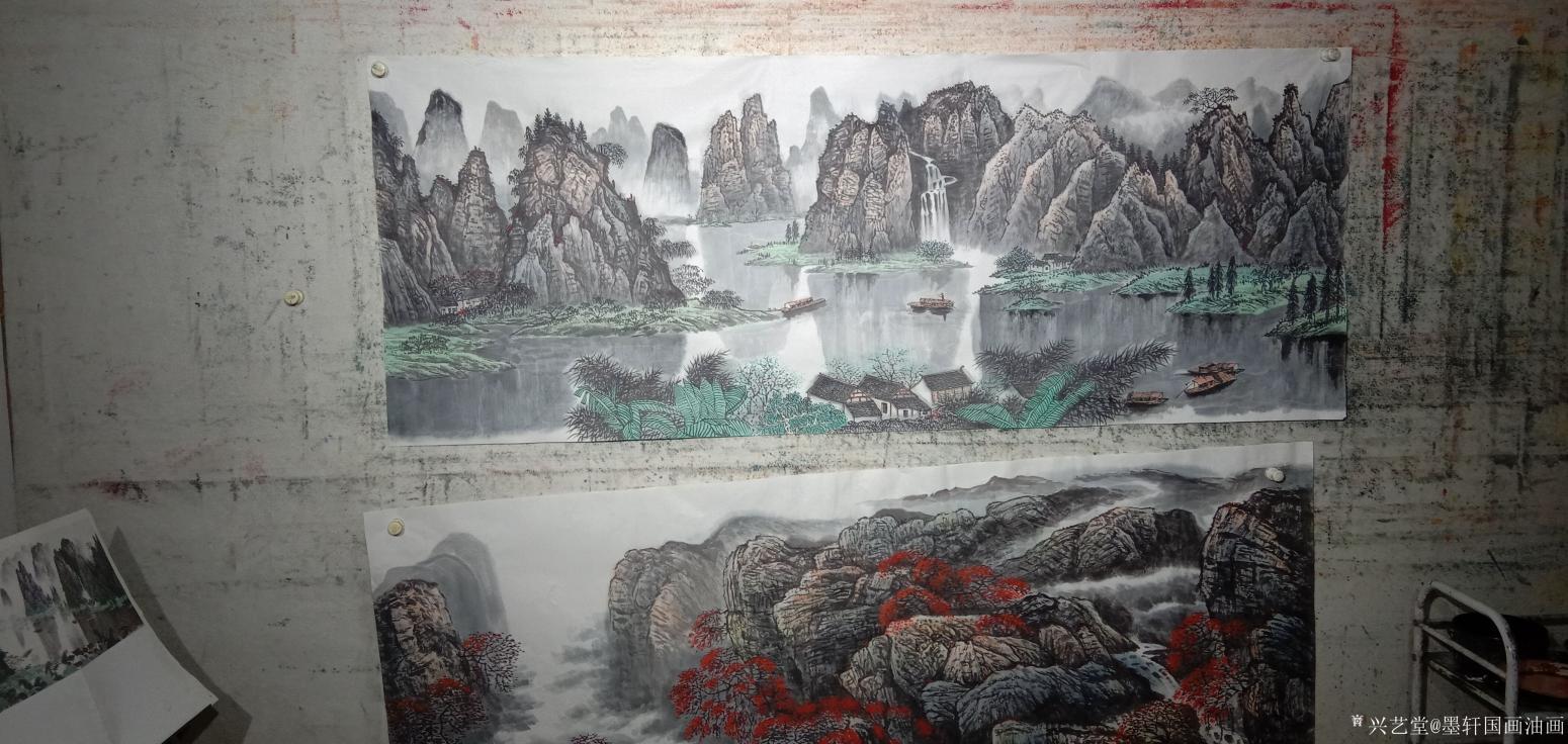 墨轩国画油画国画作品《國画山水漓江之美》【图0】