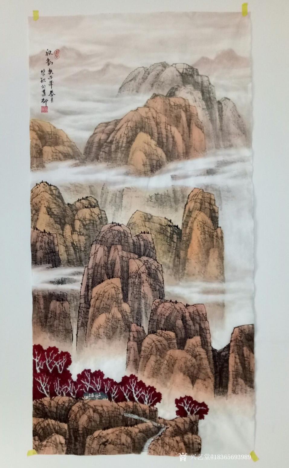 18365693989国画作品《清江雨后.秋韵》【图1】