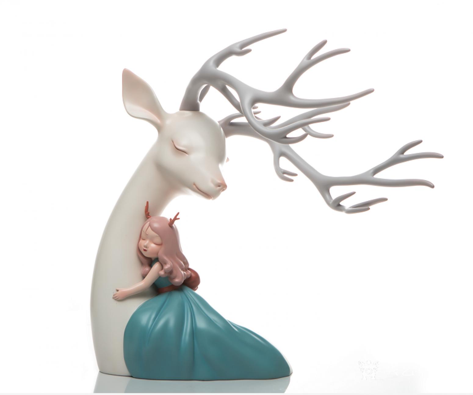 海蓝文玩杂项作品《爱情鹿》