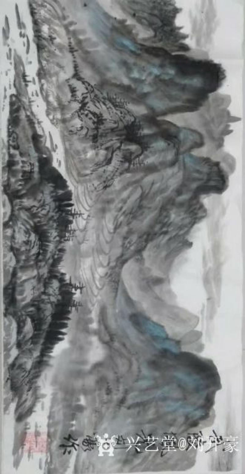 刘开豪国画作品《武陵风光》