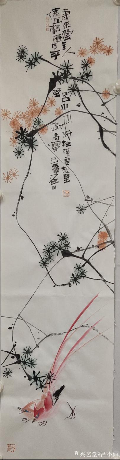 吕小仙国画作品《富贵身》