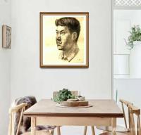 艺术家叶向阳日记:人物头像素描作品《我的战友》《保家卫国守边疆》;   第一【图1】