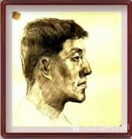 艺术家叶向阳日记:人物头像素描作品《我的战友》《保家卫国守边疆》;   第一【图2】