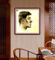 艺术家叶向阳日记:人物头像素描作品《我的战友》《保家卫国守边疆》;   第一【图3】