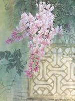 艺术家汪林日记:工笔花鸟画小猫与蚂蚱《秋趣》和簕杜鹃双兔图《小伙伴》,附局部【图4】
