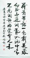 艺术家刘胜利日记:行书书法作品录唐白居易诗《采莲曲》录唐王昌龄诗《采莲曲》;【图0】
