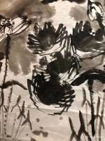 艺术家周鹏飞日记:国画写意花鸟画《世代和谐图》!夜战结束,登床,眠梦!   【图0】