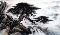 艺术家罗树辉日记:国画山水松树作品《山静松声远,秋清泉气香》;尺寸六尺整纸18【图1】