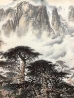 艺术家罗树辉日记:应订,重画国画山水画作品《云山起舞树生辉》,作品尺寸<spa【图1】