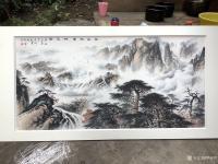 艺术家罗树辉日记:应订,重画国画山水画作品《云山起舞树生辉》,作品尺寸<spa【图2】