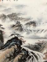 艺术家罗树辉日记:应订,重画国画山水画作品《云山起舞树生辉》,作品尺寸<spa【图4】
