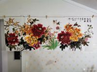 艺术家王长泉日记:国画牡丹画《花开复古春满园》,尺寸四尺横幅68X138厘米,【图0】