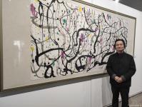 艺术家杨牧青日记:798观展:寒风掠过,面朝北的大屏幕上播放着一代艺术大师吴冠【图0】
