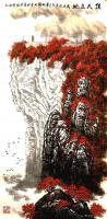 艺术家叶向阳日记:国画山水画《顶天立地》,尺寸四尺竖幅68X138CM,叶向阳【图0】
