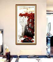 艺术家叶向阳日记:国画山水画《顶天立地》,尺寸四尺竖幅68X138CM,叶向阳【图1】