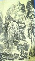 艺术家荆古轩日记:荆门尹峰水墨国画:纵横水墨山水间,随心写意悟其真。荆古轩练笔【图1】