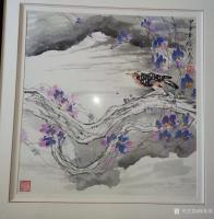 艺术家徐如茂收藏:中午取画店取画框,无意发现前四年一次笔会作品,被藏家装裱在店【图0】