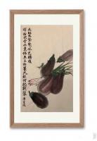 艺术家石广生日记:国画花鸟画蔬菜茄子《大红大紫几风光》; 菜市场就是我的学堂【图1】