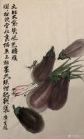 艺术家石广生日记:国画花鸟画蔬菜茄子《大红大紫几风光》; 菜市场就是我的学堂【图2】